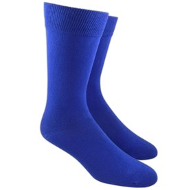 Royal Blue Solid mens socks