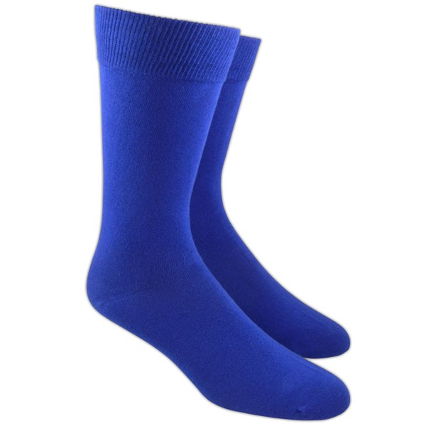 Royal Blue Solid Socks