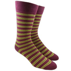 bar stripes crimson dress socks