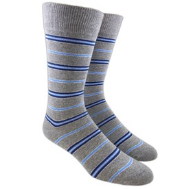 Silver Clinton Stripe mens socks