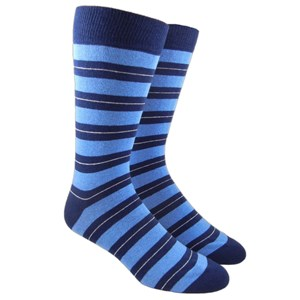 nifty stripe light blue dress socks