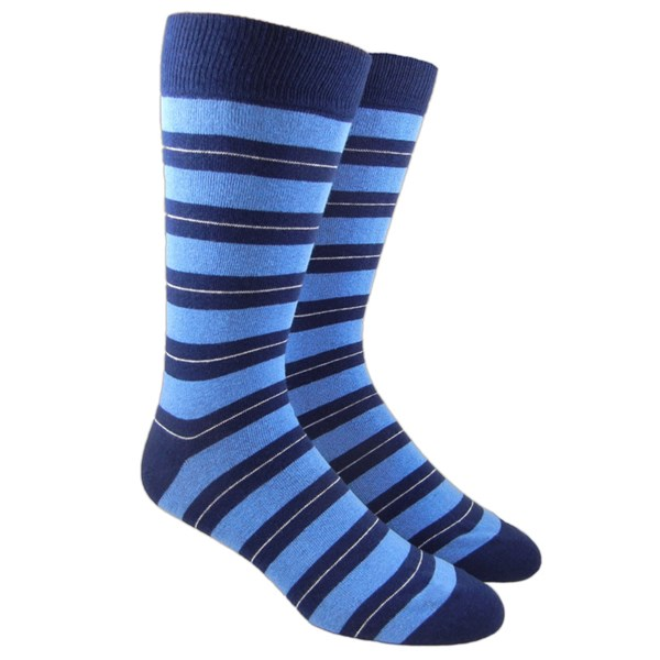 Light Blue Nifty Stripe Socks