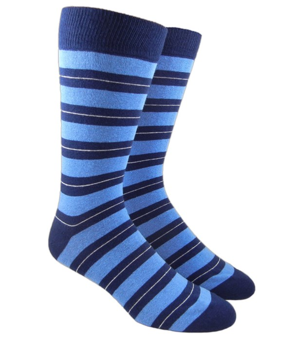 Nifty Stripe Light Blue Socks