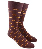 Men's Socks - ZE MOUSTACHE - ROOT BEER