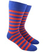 Men's Socks - TWILL STRIPE - ROYAL BLUE