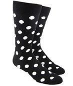 Men's Socks - POP DOTS - BLACK