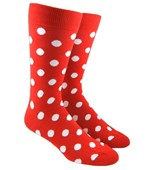 Men's Socks - POP DOTS - RED