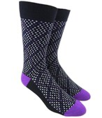 Men's Socks - TIGERSTOOTH GRID - PURPLE