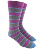 Men's Socks - BOLD STRIPE - AZALEA