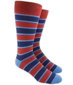 Men's Socks - BOLD STRIPE - RED