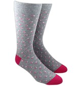 Men's Socks - TOSSED FLOWERS - CHARCOAL