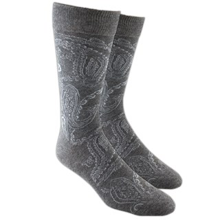Platform Paisley Grey Dress Socks