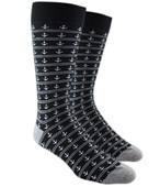 Men's Socks - ANCHOR STRIPE - BLACK