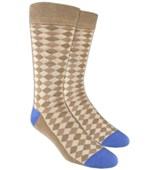 Men's Socks - TEXTURED DIAMONDS - TAN