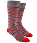 Men's Socks - SURFSIDE STRIPES - Reds