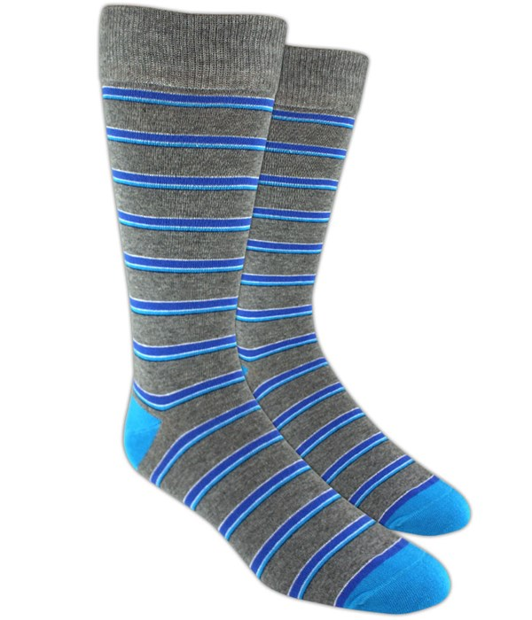 Surfside Stripes Blue Dress Socks