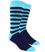 Men's Socks - SPORTSMEN STRIPE - Aqua