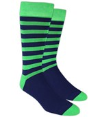 Men's Socks - SPORTSMEN STRIPE - Kelly Green