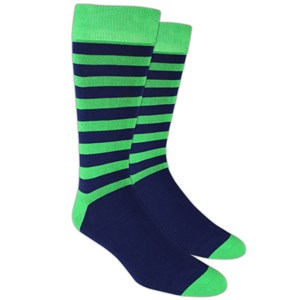 sportsmen stripe kelly green dress socks