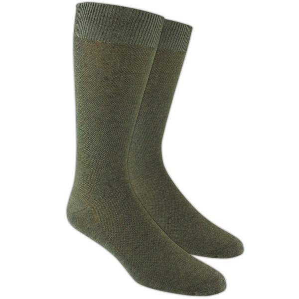Army Green Solid Texture Socks