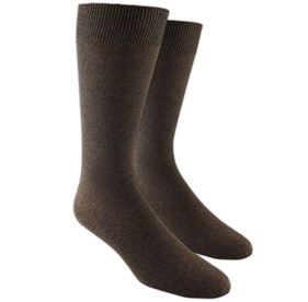Brown Solid Texture mens socks