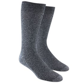 Solid Texture Grey Men's Socks