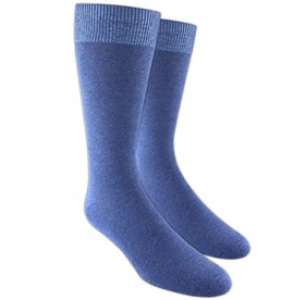 Blue Solid Texture mens socks