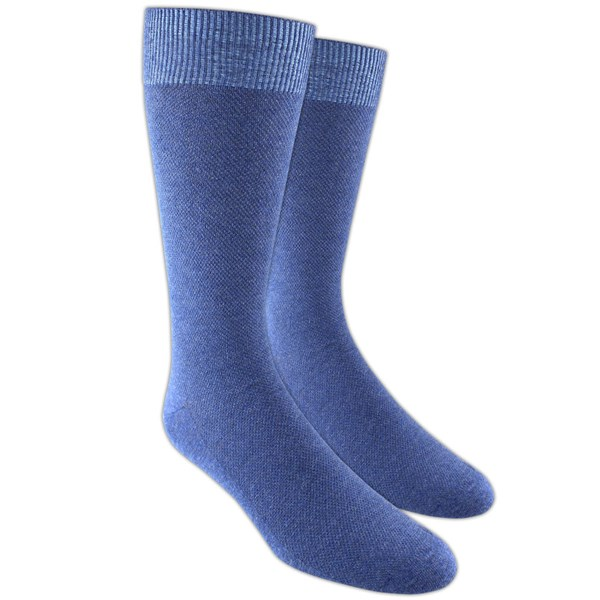 Blue Solid Texture Socks
