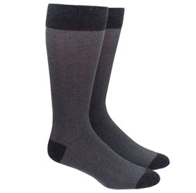 Grey Herringbone mens socks