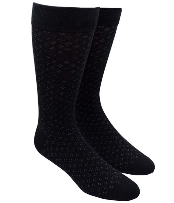 Speckled Black Dress Socks