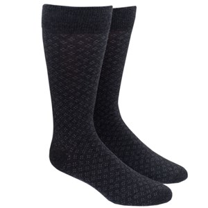 speckled charcoal dress socks