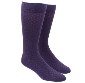 Eggplant Speckled mens socks