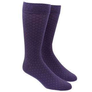 Speckled Eggplant Dress Socks