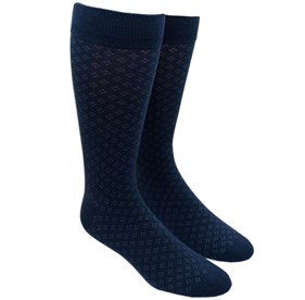 Navy Speckled mens socks