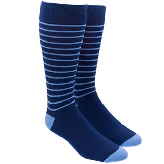 woodland stripe navy dress socks