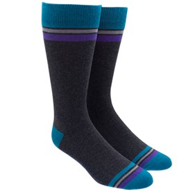 Charcoal Vintage Stripe mens socks