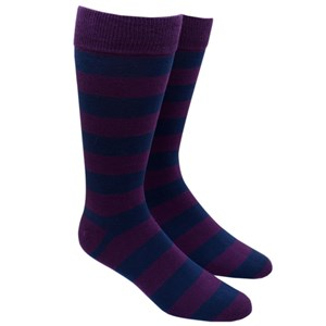 super stripe navy dress socks