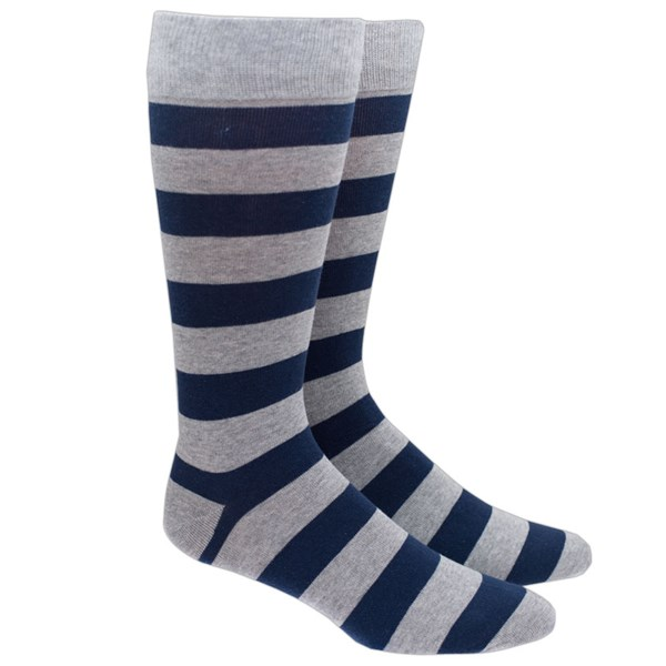 Grey Super Stripe Socks