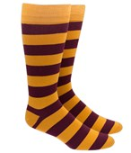 Men's Socks - SUPER STRIPE - Gold