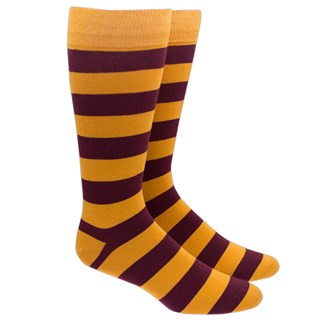 super stripe gold dress socks
