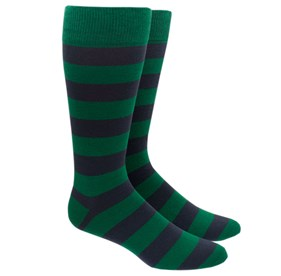 Green Super Stripe mens socks
