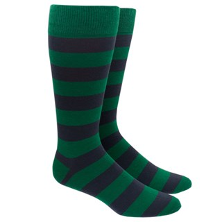super stripe green dress socks