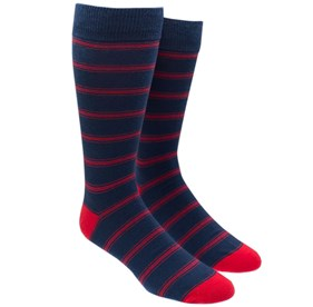 Navy Ripon Stripe mens socks