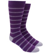 Men's Socks - RIPON STRIPE - PURPLE