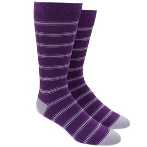 ripon stripe purple dress socks