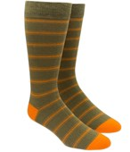 Men's Socks - RIPON STRIPE - OLIVE