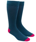 Men's Socks - MINI DOTS - GREEN TEAL