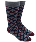 Men's Socks - PICNIC PLAID - BURGUNDY