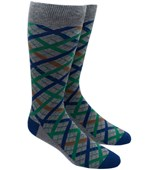 Men's Socks - PICNIC PLAID - GREEN
