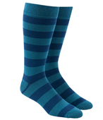 Men's Socks - SUPER STRIPE - Washed Teal